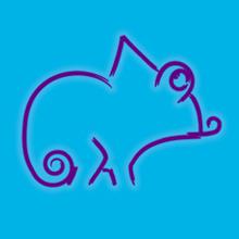 Logo Kajong met blauwe achtergrond